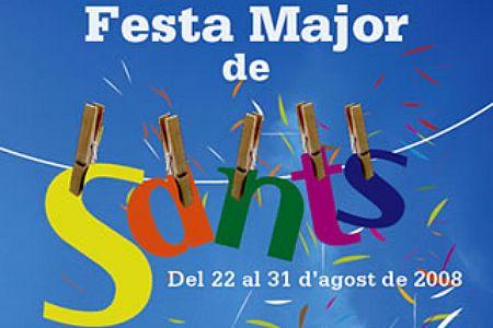 Cartel de la fiesta de Sants, 2008
