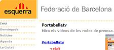 Captura web de la página de ERC Barcelona