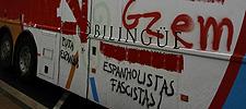 Autobús de Galicia Bilingüe atacado