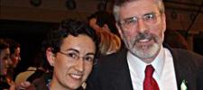 Marta Rovira y Gerry Adams