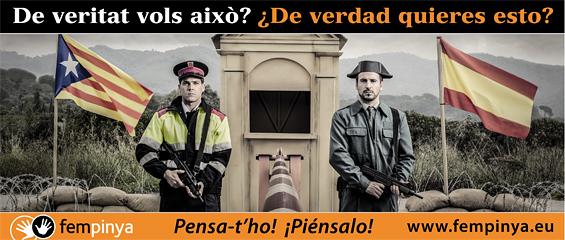 Valla publicitaria contratada en diversos puntos de las poblaciones colindantes a Barcelona (imagen: Fem Pinya).