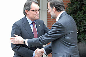 Rajoy y Mas tienden puentes